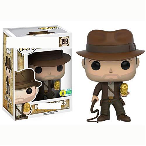 ZJAH Funko Pop Indiana Jones pelicula y television Mano periferica Modelo de Oficina Juguetes Indiana Jones 199 # Figura Coleccionable de Indiana Jones, Multico