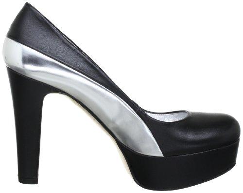 155 Scarpe schwarz Donna Tacco Col Nero black Bpm P1 silver 1fqAf