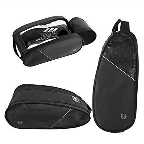 Golf Shoe Bag Travel Sport Gym Yoqa Sock Organizer Odor Resistant Large Zipper Space Shoe's Bag for Men and Women (Black) by skyvlv (Image #7)