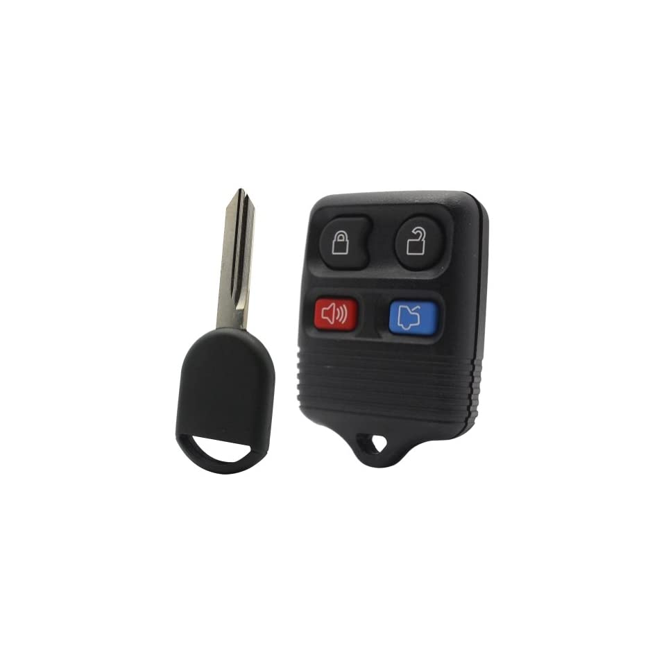 2000 00 Ford Taurus Keyless Entry Remote and Uncut Transponder Key Blade