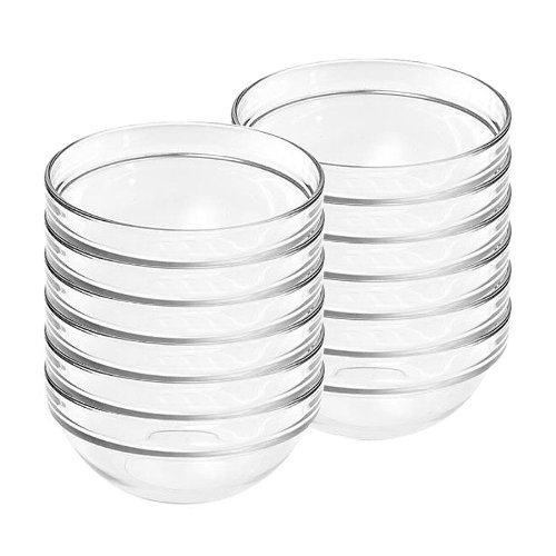 Luminarc Stackable Glass Bowls Sauce Dishes 9cm Ideal for Dips Sauce (12)