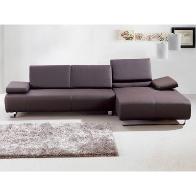 Emotion Sectional Chaise Color: Chocolate