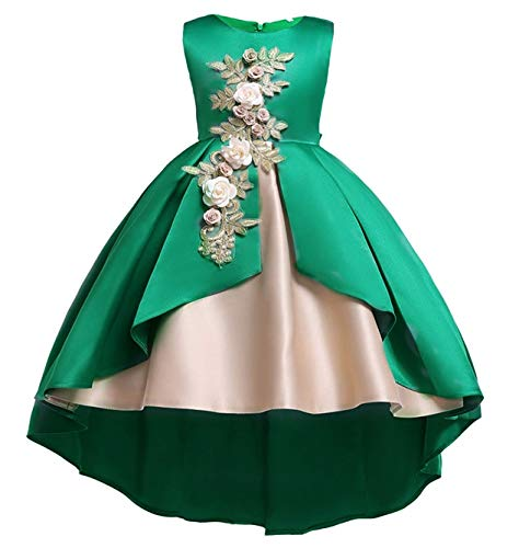 - Flower Little Big Girls Lace Bridesmaid Dress Kids Wedding Party Birthday Pageant Toddler Princess Formal Dresses