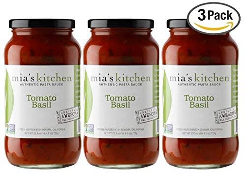 Mia's Kitchen Tomato Basil Pasta Sauce 3-Pack
