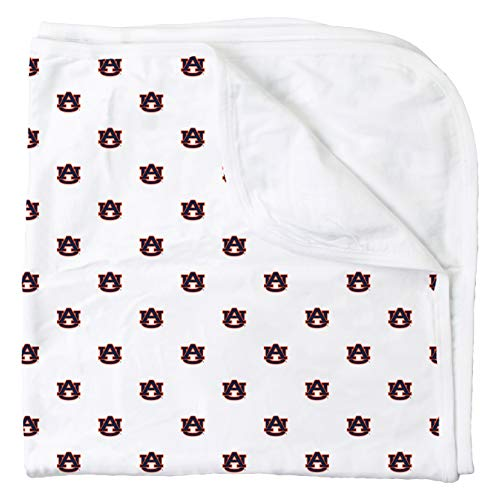 (Wes and Willy Auburn All Over Print Baby and Infant Blanket, Tigers Logo)
