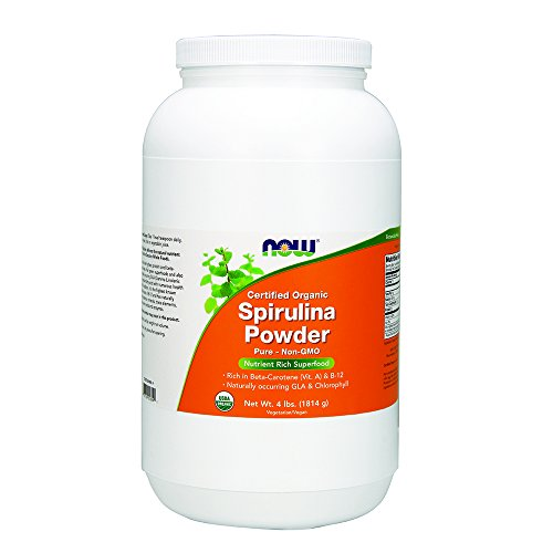NOW Organic Spirulina Powder,4-Pound by NOW Foods