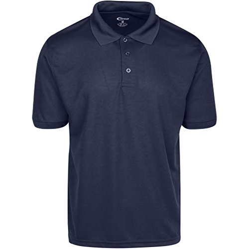 Mens Navy Drifit Polo Shirt Large