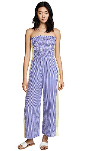 A Peace Treaty Women's Pirata Ruched Jumpsuit, Multi, XS/S by A Peace Treaty