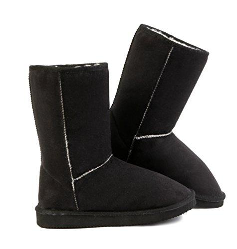 Faux neige Yiiquan Cuir Boots fourr de Bottes Femme BRwwxnCF