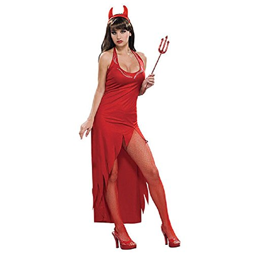 Jeweled Temptress Devil Rubies Womens Halloween Costume Cute Sexy Satan (Plus Size Sexy Captain Swashbuckler Costumes)