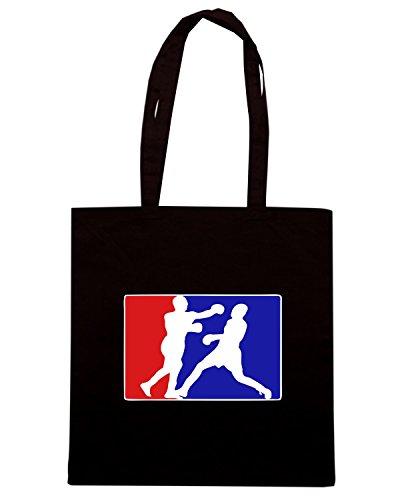 T-Shirtshock - Bolsa para la compra TBOXE0071 boxing league Negro