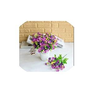 V-K-YA 28 Heads Flowers Silk Daisy Wedding Party Decorations Flower Bouquet Rose,Dark Purple 85