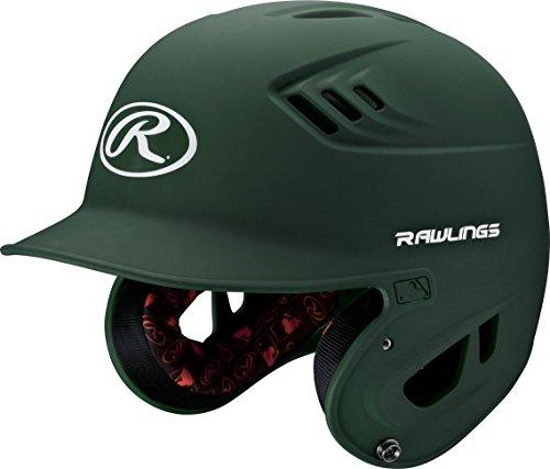 Rawlings R16 Series Matte Batting Helmet, Green, Senior