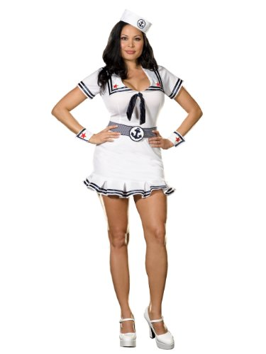 Summitfashions Plus Size Sailor Costume Naval Uniform
