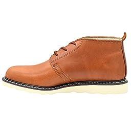 Golden Fox Arizona Chukka Casual Wear Light Weight Work Boots for Mens Brun 8.5 M US
