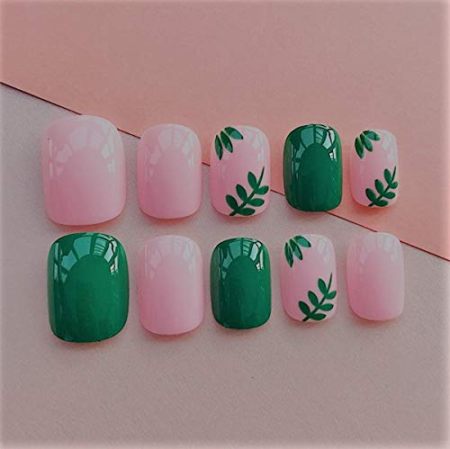 Falses Nails 24pcs Elegant Wine Red Christmas New Year Fake Nails Press On Nail Artificial Nail Tips With Glue Sticker Faux Ongles Unhas Gift ()