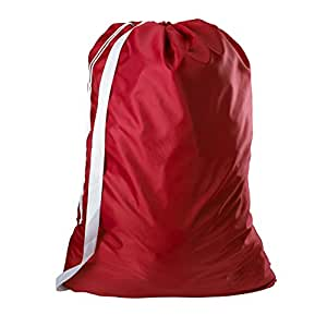 Amazon Com Nylon Laundry Bag With Shoulder Strap Red