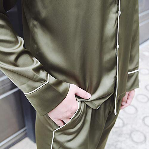 A Pantaloni Cardigan Notte Bavero Donna Da Autunno Nove Pigiama Punti Primavera Notte Pezzi Da Street XL Pigiami Camicie Pigiameria Due Uomo Seta Smeraldi GZZ Beat Da HRXxqFXT