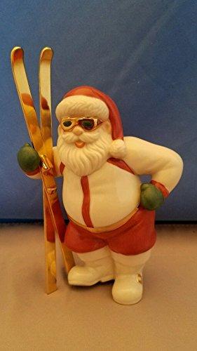 Lenox Hip Skiing Santa with Gold Ski's & Gold - Sunglasses Lenox