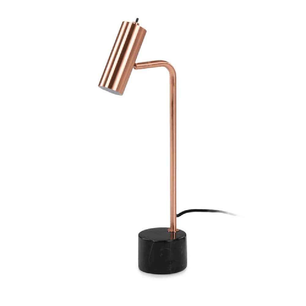 GCCLCF Metall minimalistische kreative roséGold marmor tischlampe Hotelzimmer nachttischlampe Schlafzimmer Dekoration leselampe