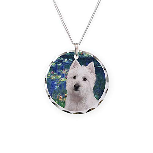 - CafePress Lilies5 Westie 11B Charm Necklace with Round Pendant