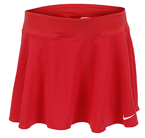 Nike Women's Tennis Nkct FLX Pure Skirt Flouncy - Red (Large)