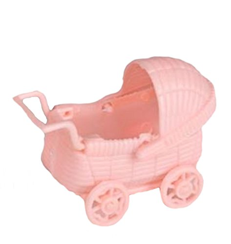 12 Plastic Buggy Carriage Baby Shower Favor (Plastic Carriage Light)