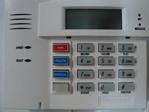 Honeywell Alarm System Unit, Model 5828V Wireless Talking Fixed English Keypad, with plug in Power Adaptor and Battery Backup (Secondary Keypad)