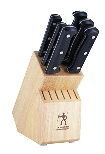 Pro 7 Piece Block - J.A. Henckels 35393-000 Knife Block Set, 7 Piece, Black