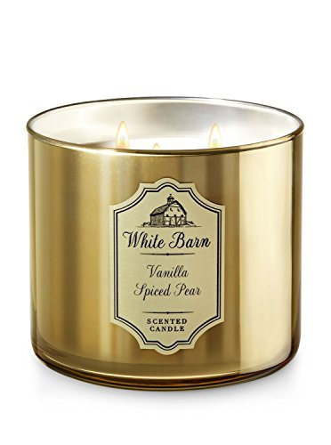 White Barn 3 Wick Candle Vanilla Spiced Pear
