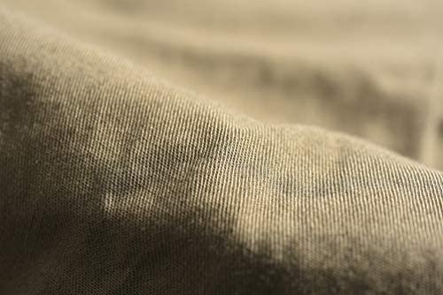 [ギローバー] 【2020年 春夏】シャツ ホリゾンタルカラー エポーレット付 サファリシャツ 長袖 メンズ 春夏 コットン 綿100% 無地 ブラウン【並行輸入品】