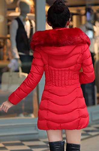 Coat Parka Invernale Women Slim Calda Outwear Down Long Red Giacca Blackmyth IBUq7w
