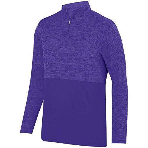 Augusta Activewear Shadow Tonal Heather 1/4 Zip Pullover, Purple, XXX Large