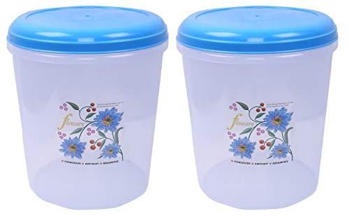 Kuber Industries Plastic 2 Pieces Multipurpose Storage Container Box 5000 ML  Blue   CTLTC12606