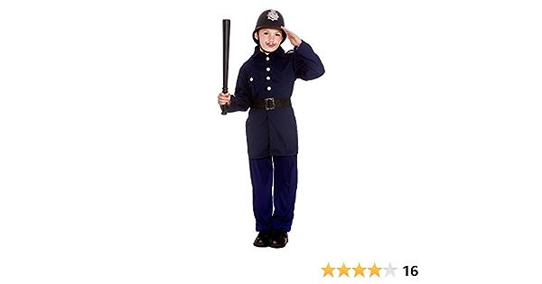Boys Victorian Policeman Bobby Police Man Child Fancy Dress Costume Uniform Cop