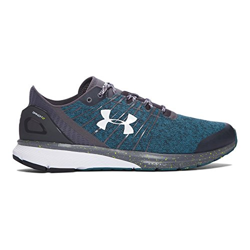 Under Armour Men's Charged Bandit 2, Rhino Gray/Marlin Blue/White, 11.5 D(M) US