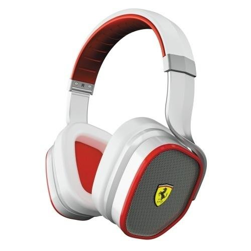 Ferrari AAV-2LFH007W Scuderia R300 Active Noise-Cancelling Headphones - White (Discontinued by - Scuderia Ferarri