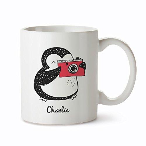 [Personalised Penguin Mug - Penguin Coffee Mug - Penguin Mug for Her - Custom Coffee Mug - Custom Penguin Mug] (Munchkin Outfits)