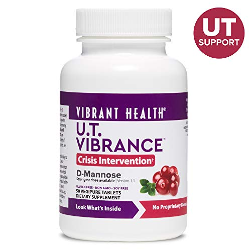 Vibrant Health – U.T. Vibrance, Crisis Intervention Formula to Support Urinary Tract Health with D-Mannose, Cranberry, and Dandelion Root, Gluten Free, Vegetarian, Non-GMO, 50 Count FFP