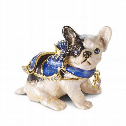 ESTEE LAUDER PLEASURES BLUE RIBBON BLUE DOG SOLID PERFUME COMPACT-NIBB