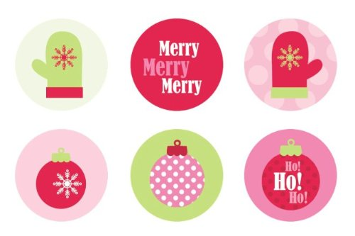 Christmas Ornaments & Mittens Edible Cupcake Toppers Decoration