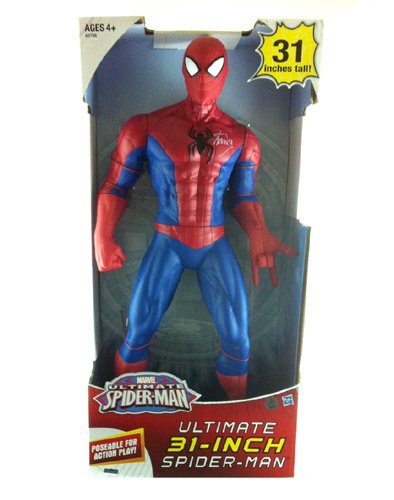 "Stan Lee Autographed/Signed Ultimate Spider-Man 31"" Posable Action Figure In-Box"