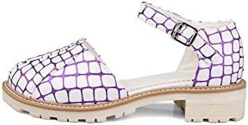 WEIQI-Chaussures pour Dames/été/Boucle/tête Ronde/Confort, Shopping/Travail/école, 4cm, 34-41, Purple, 32