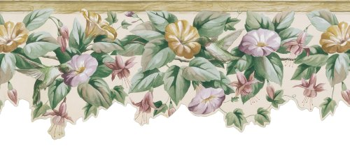 Brewster 418B113 Borders and More Die-Cut Floral Wall Border, 9.5-Inch by 180-Inch (Die Cut Wall Border)