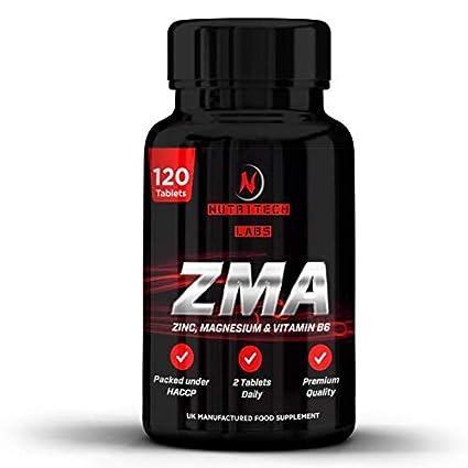 ZMA- Suplemento zinc, magnesio y vitamina B6- Triple Concentración 2500 mg- Aumenta