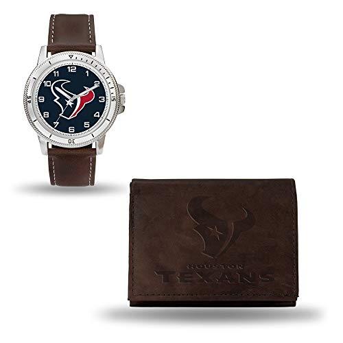 (NFL Houston Texans Men's Watch and Wallet Set, Brown, 7.5 x 4.25 x 2.75-Inch)