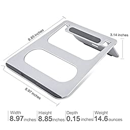 Laptop Stand INNORI Multi-Function Folding Portable Aluminum Cooling Pad For Laptop Macbook Tablet ipad ... (Folding)