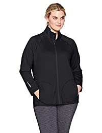 Just My Size Womens Plus-Size Active Full-Zip Mock Neck Jacket