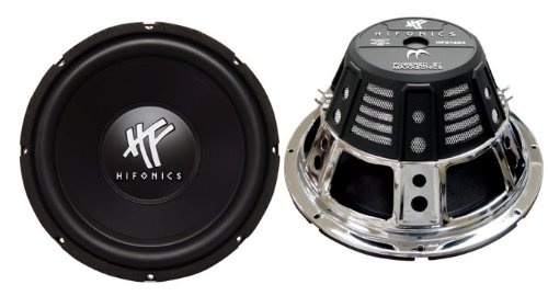 (Hifonics HFX12D4 12-Inch 1600 Watt HF Series Dual 4 Ohm Car Subwoofers, Pair of 2)