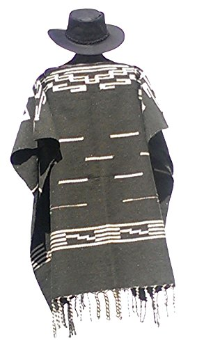 Clint Eastwood Spaghetti Western Original Pattern 100% Wool Poncho w Leather Hat by Sharpshooter (Image #2)